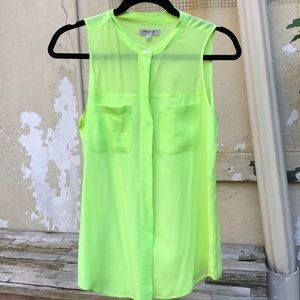 Madewell Neon Button Down Top